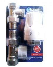 Diamond zestaw termostatyczny grzejnikowy prosty Art.411