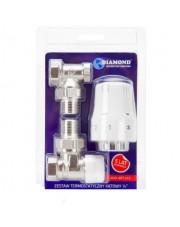 Diamond zestaw termostatyczny grzejnikowy kątowy Art.412