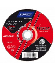Norton tarcza do cięcia Vulcan Stal Inox 42 125x2,5x22,23 66252925487