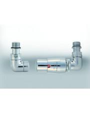 Vario Term zestaw termostatyczny Vision grzejnikowy prawy chrom VIGS0202CFK/P
