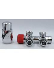 Vario Term zestaw termostatyczny Twins prawy chrom TSGS0202CFK/P