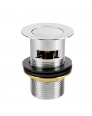 Diamond spust z korkiem automatycznym klik-klak z mosiądzu chrom ART.84-1.1/4.M
