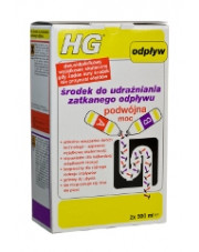 HG środek do udrażniania zatkanego odpływu podwójna moc 2x500ml