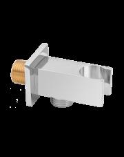 Invena przyłącze kątowe ścienne z uchwytem słuchawki chrom SC-P1-033