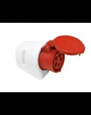 PCE gniazdo stałe 32A 5P 400V czerwone IP44 125-6