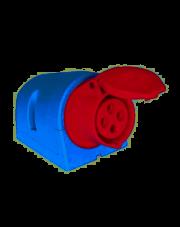 PCE gniazdo stałe 16A 4P 400V czerwone IP44 114-6