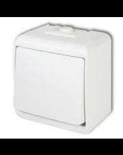 Karlik łącznik jednobiegunowy natynkowy IP54 biały Junior WHE-1