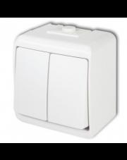 Karlik łącznik podwójny świecznikowy natynkowy IP54 biały Junior WHE-2