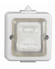 Timex łącznik świecznikowy IP44 biały ogumowany klawisz WNT1JH