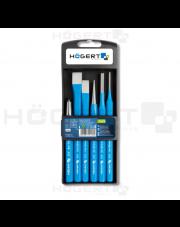 Hogert zestaw przecinaków punktaków i wybijaków 6-elementowy HT3B710