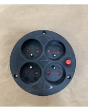 Gniazdo kablowe przedłużacza 4x250V z termikiem