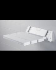 Składane siedzisko prysznicowe dla niepełnosprawnych białe