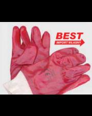 Best rękawice powlekane PVC krótkie ze ściągaczem