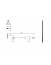 Fanar gwintownik maszynowy metryczny HSS NGMf M12 F1-151001-0120