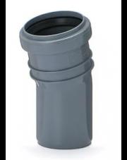 Kolano kanalizacyjne 15 stopnix50mm szare