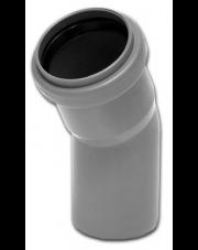 Kolano kanalizacyjne 30 stopnix50mm szare