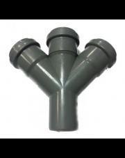 Czwórnik kanalizacyjny 110/110/110mm 45 stopni