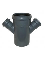 Czwórnik kanalizacyjny 110/50/50mm 45 stopni