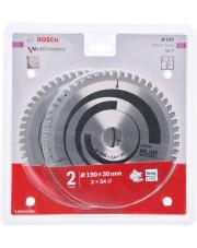 Bosch zestaw 2 tarcz pilarskich Multi Material 190x30x2,4mm 2608644652