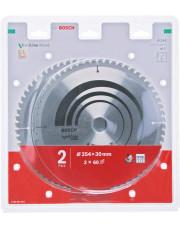 Bosch zestaw 2 tarcz pilarskich Optiline Wood 254x30x2mm 2608644657