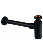 McAlpine syfon umywalkowy butelkowy czarny mat 120 BLACK