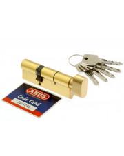 Abus wkładka bębenkowa KD10 45/40 mosiądz z gałką WK-AB-232