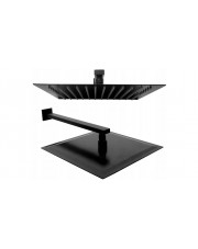Rea deszczownica aluminiowa Ultra Slim Square 30x30 Czarna Matowa