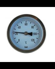 Termometr tarczowy okrągły TB 63 z trzpieniem 1/2