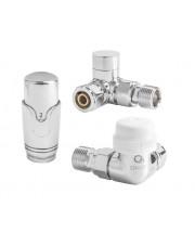 Diamond zestaw termostatyczny osiowy prosty chrom ART.432