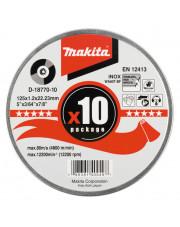 Makita tarcza tnąca Inox WA60T 125x1,2x22,23mm 10 sztuk D-18770-10