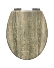 AWD Interior deska sedesowa wolnoopadająca w kolorze beżowego drewna AWD02181703