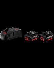Bosch zestaw akumulatorowy z ładowarką 2x5.0Ah 18V 1600A00B8J