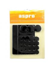 Aspro zestaw podkładek filcowych czarnych 38sztuk A-40002-10-038