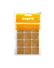 Aspro podkładki korkowe kwadratowe 28x28mm 12sztuk A-40003-02-XXX