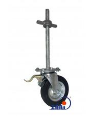 Zestaw kołowy obrotowy do rusztowań z hamulcem koło gumowe 200 mm Z65NH/26