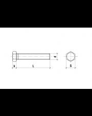 Śruba sześciokątna niepełny gwint ocynk klasa 10,9 M16x120x1,5