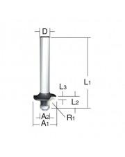 Makita frez do fazowania półokrągłego D-09422