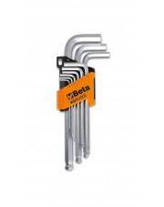 Beta komplet kluczy trzpieniowych kątowych z kulistą końcówką 1,5-10mm 96BPC/SC9
