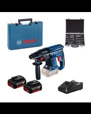 Bosch akumulatorowy młot udarowo-obrotowy GBH 180-LI + 11-częściowy zestaw wierteł SDS Plus 0615990M33