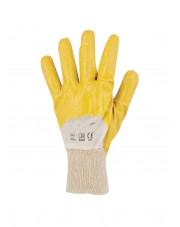Rękawice powlekane nitrylowe żółto-beżowe rozmiar 8